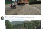 Carmen Armendáriz productora de TV enfatiza el retraso de la carretera de La Ropa